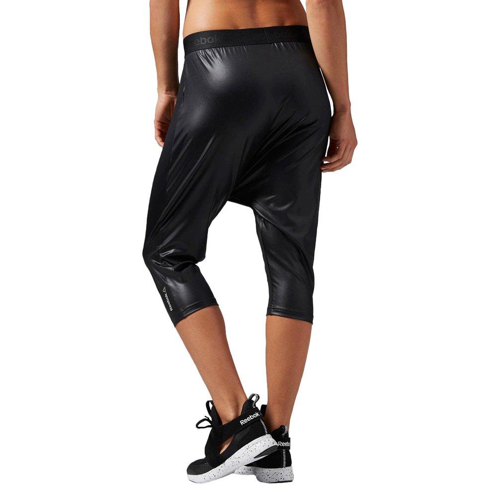 Reebok Dance Knit Harem Capri Damen 3//4 Hose Dance Fitness schwarz Shorts