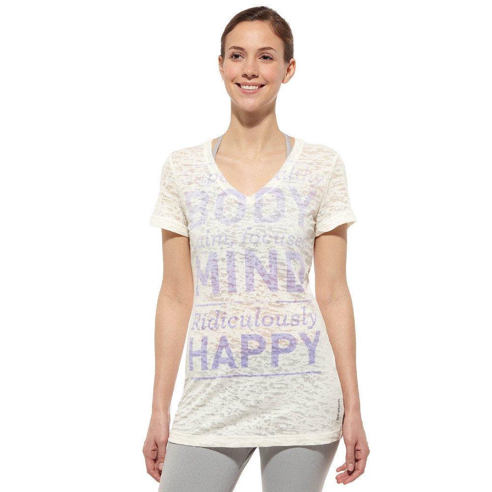 2d795989 Details about Women's Reebok RH Burnout V neck Training T-Shirt Fitness  Jersey Tee