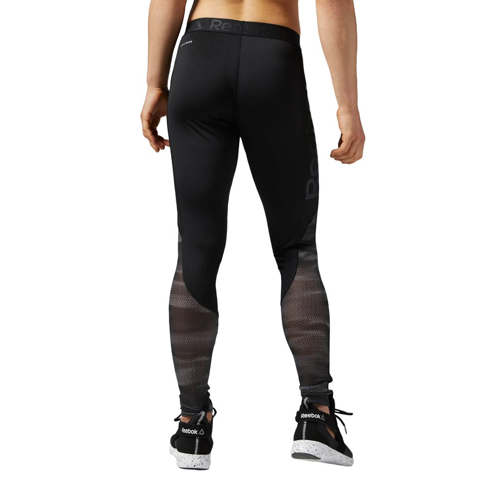 8555516016ea4 ... Reebok Workout Show Mesh Logo damen Hose Leggings Fitness sport AY1869 2