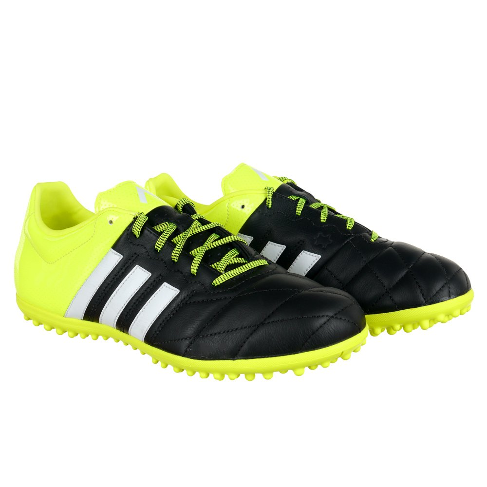 adidas ace 15 3 tf herren schuhe leder fu ballschuh schwarz gr n ebay. Black Bedroom Furniture Sets. Home Design Ideas