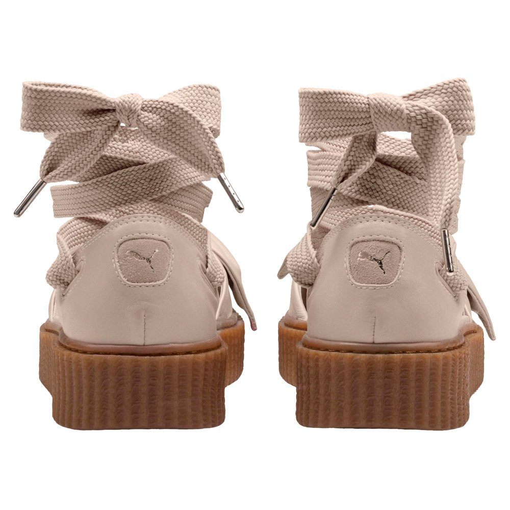 more photos ebf07 ee12a Details about Women's Puma x Fenty Rihanna Bow Creeper Sandals Beige Summer  Shoes