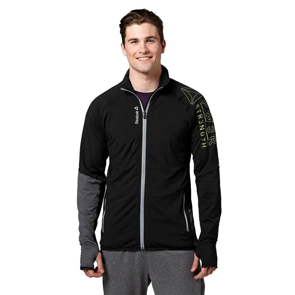 28ee2e1f1b Details about Men's Full Zip Track Jacket Reebok CrossFit DT Graphic Sports  Training Jacket