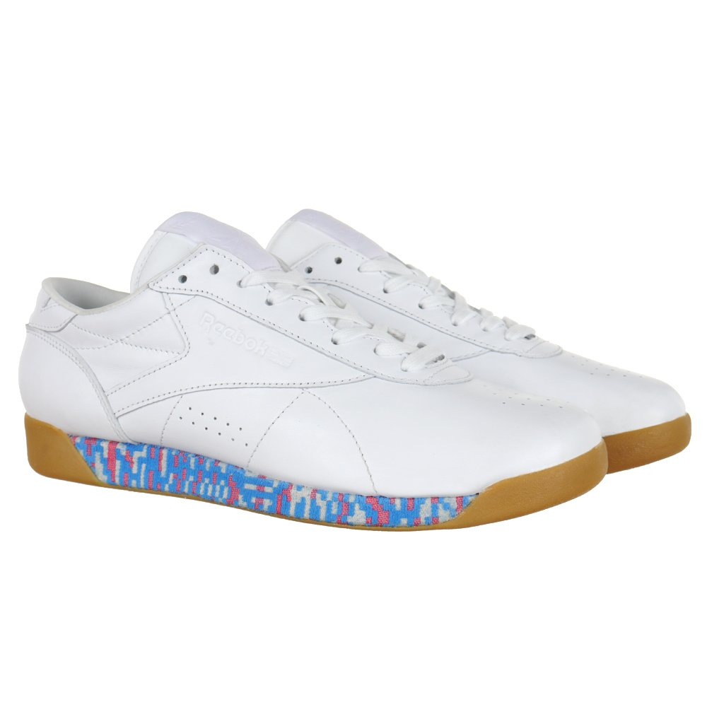 b6969cbb74d16b Reebok Classic Freestyle Low Old Meets New Women s White Trainers Leather  Shoes
