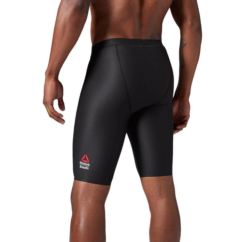 new styles 290ad 33247 ... Reebok CrossFit Solid Compression Shorts Mens Black Training Base Layer  Tights AI2461 2