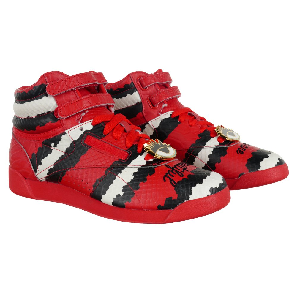 e2f1dadcff9 Reebok Freestyle Hi Melody Ehsani Women s Hi Top Sneakers Red Trainers  M48396 1 ...