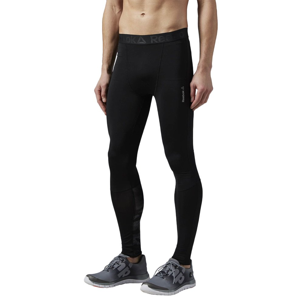 3b0e0c5e33b93 Men's Reebok LTHS Compression Tights Black Running Wicking Trousers AJ3011  1 ...