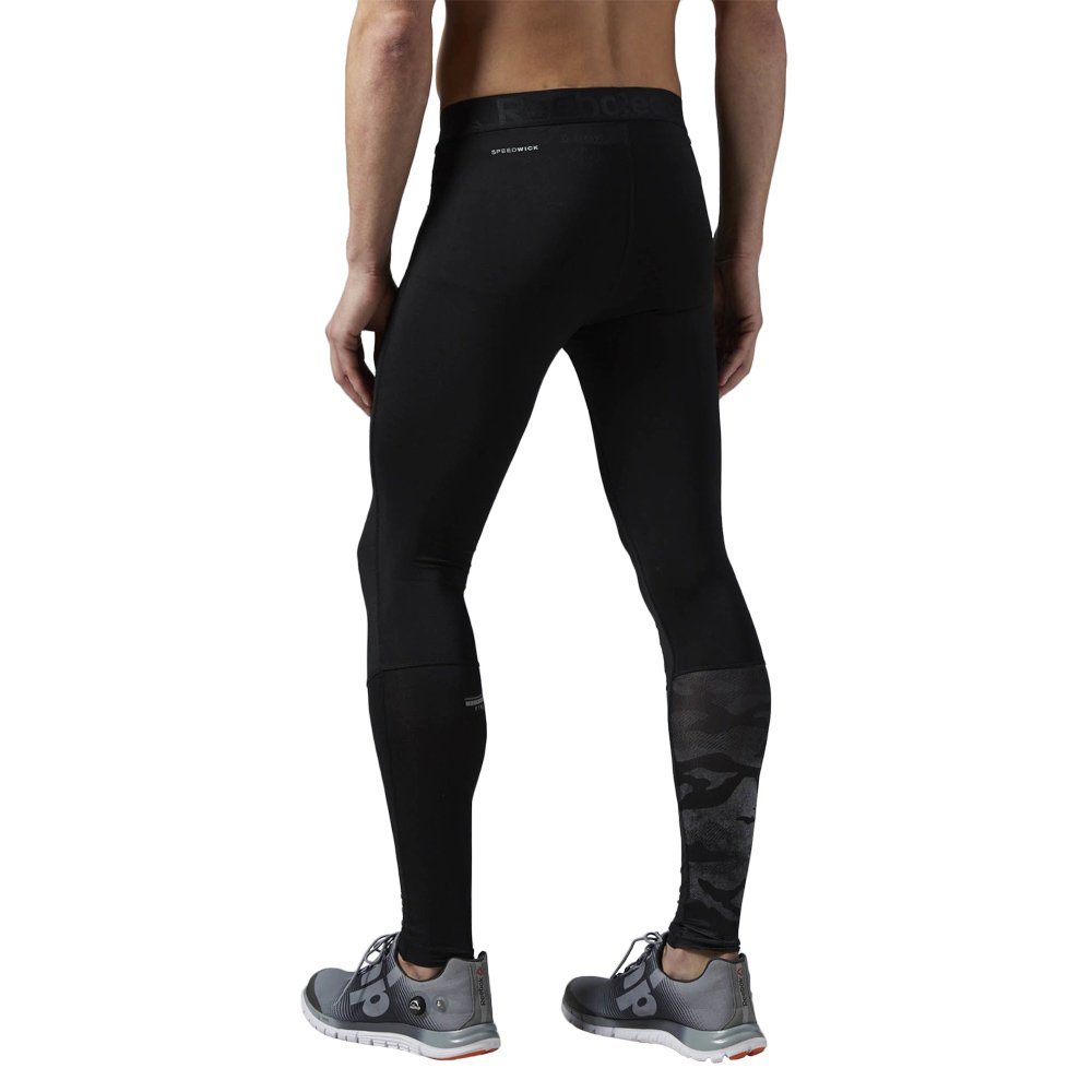 fd29a55e465b8 ... Men's Reebok LTHS Compression Tights Black Running Wicking Trousers  AJ3011 2