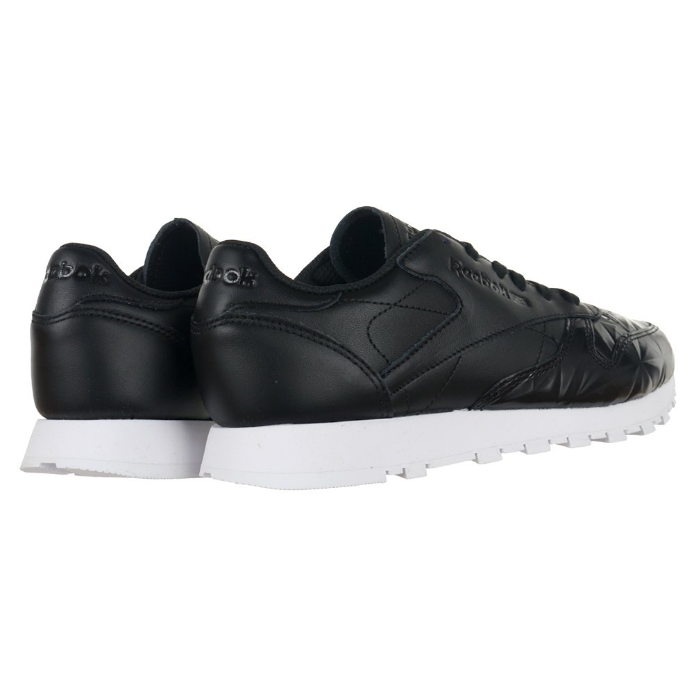 ... Reebok Classic Leather Hype Metallic Womens Sports Sneakers Black  Trainers Shoe BD4887 2 7a4ade912