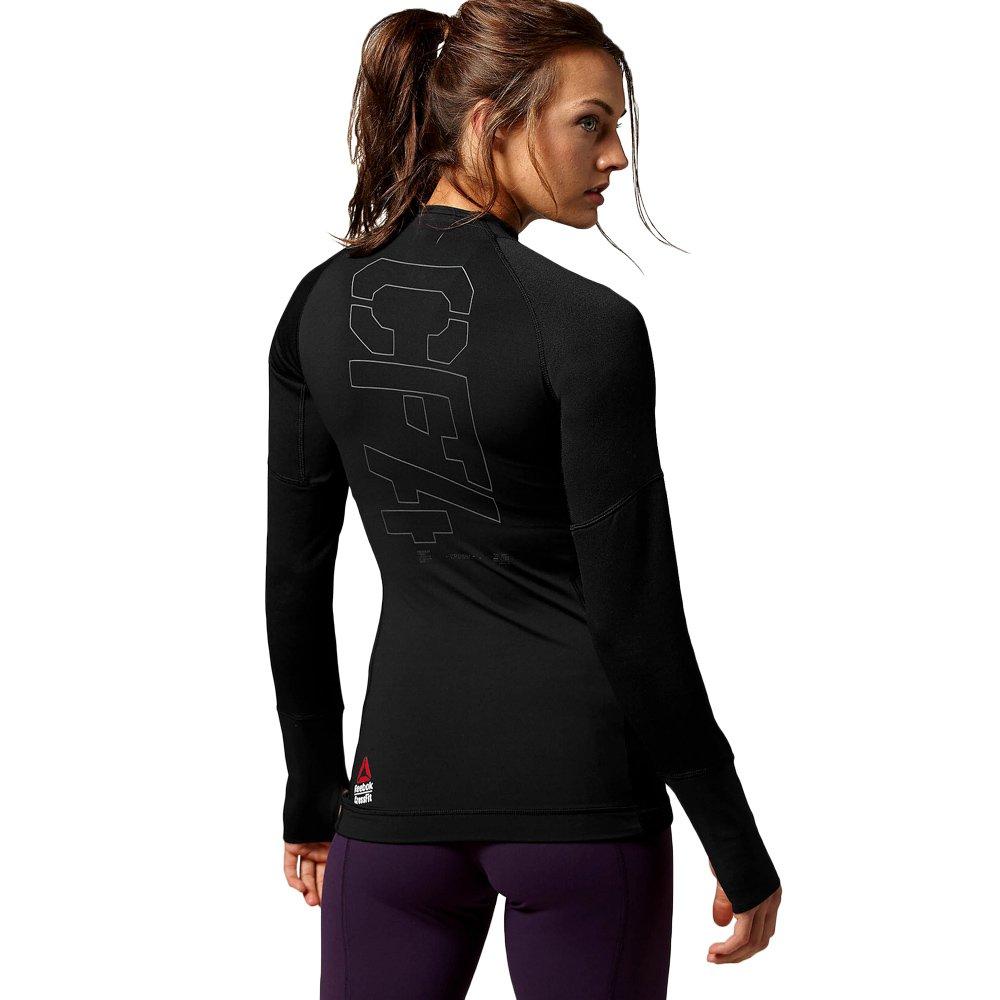Reebok CrossFit COLD MOCK Black Longsleeve Shirt Wicking Compression Top