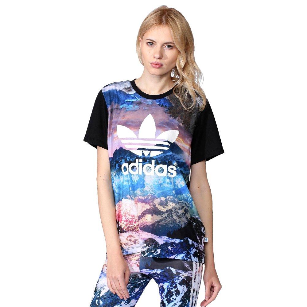 adidas Originals Trefoil Women s Mountain Clash Tee Jersey T-shirt AA2495 1  ... 1aeb98ba25325