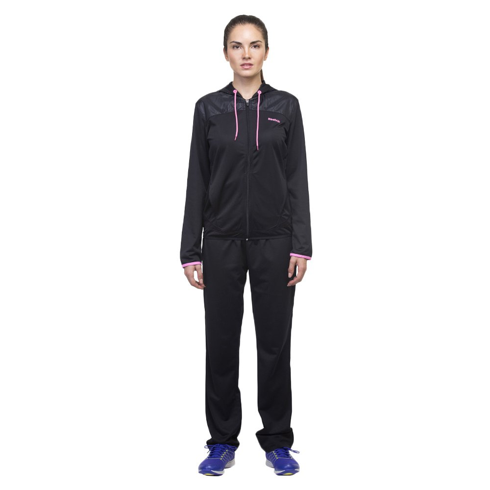 9fb09ea64d5e Women s Reebok Tracksuit Performance Poly Sports Training Running Black Set
