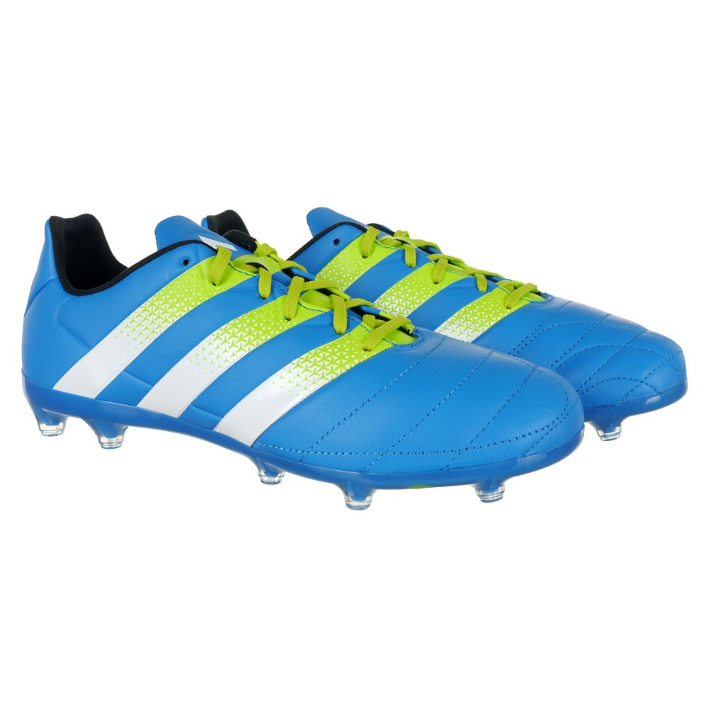 0b5a42708a ... discount adidas ace 16.2 fg ag blue leather mens shoes football moulded  studs trainers af5136 1
