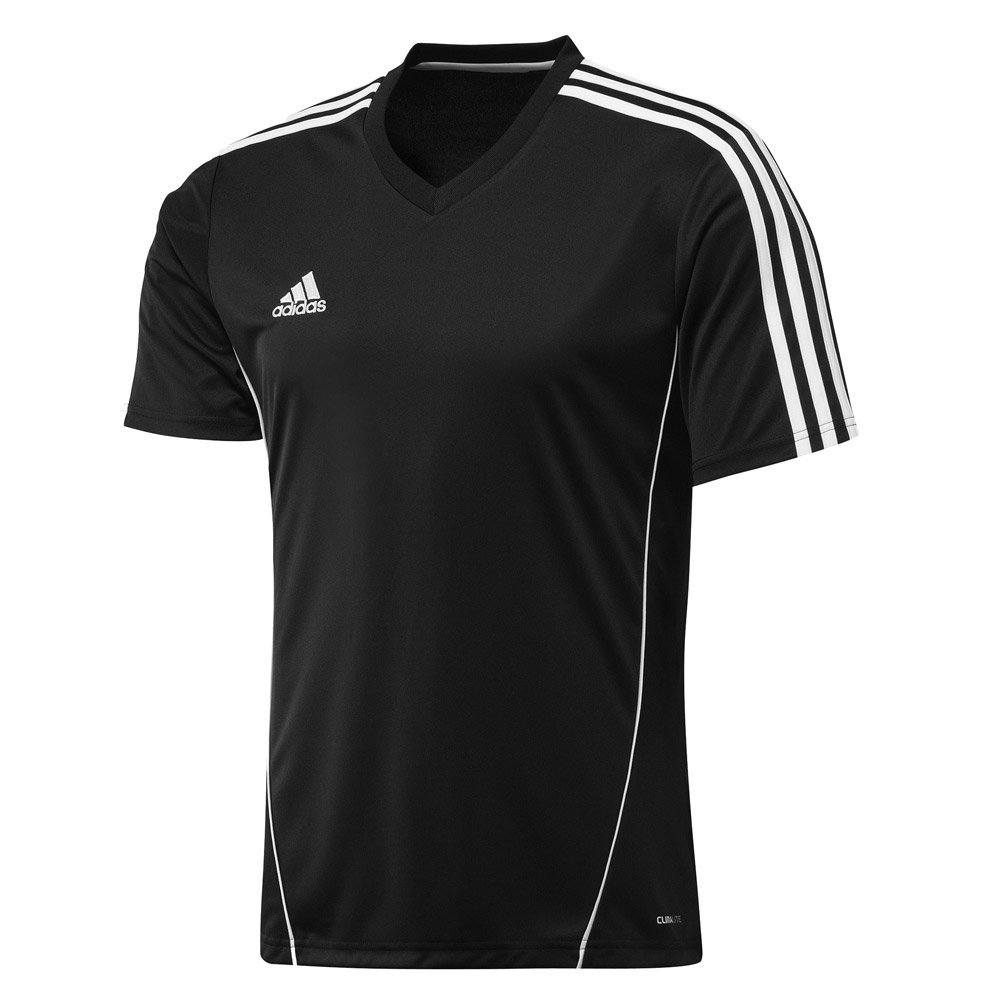 Dark Gray White Adidas Youth Athletic Performance Climalite T-Shirt