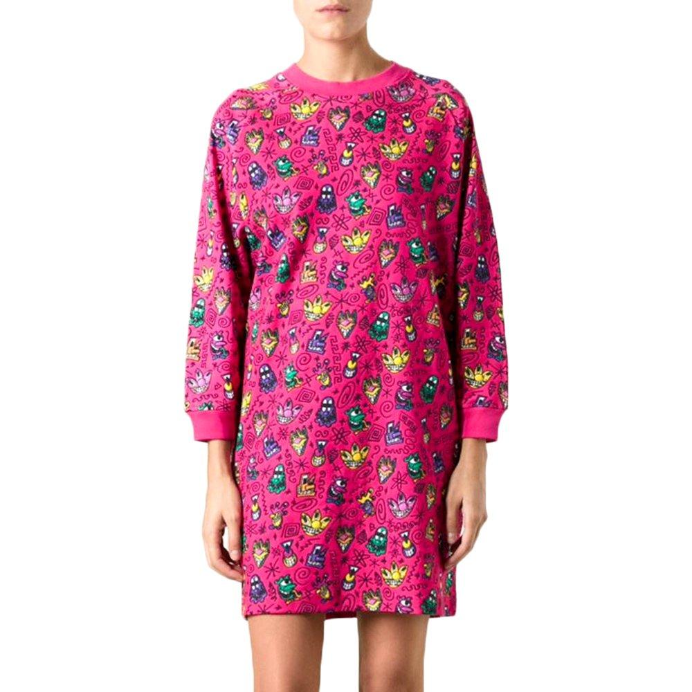 ... Adidas Originals Jeremy Scott KS Sweater Womens Oversize Jumper Dress  Pink M63885 2 f0a40fb0624