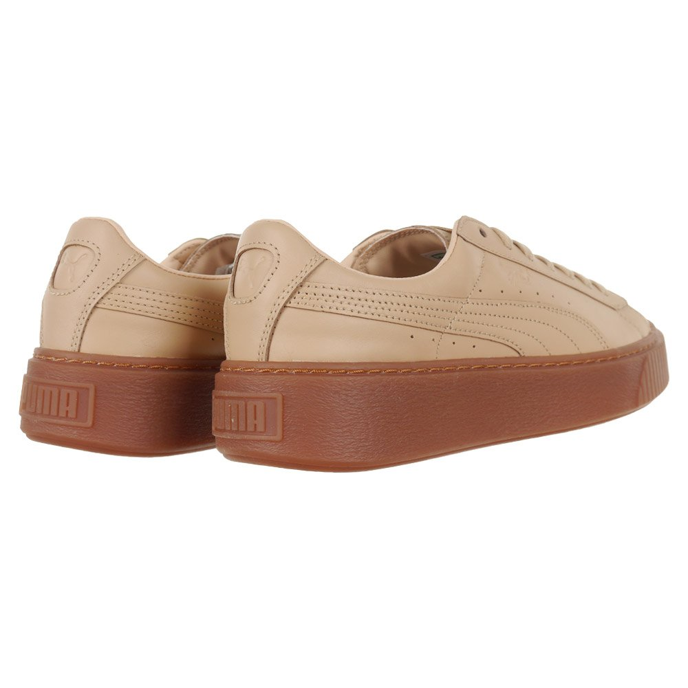 Women s PUMA x NATUREL Platform Veg Tan Sneakers Beige Leather Upper  Trainers 792664ad3