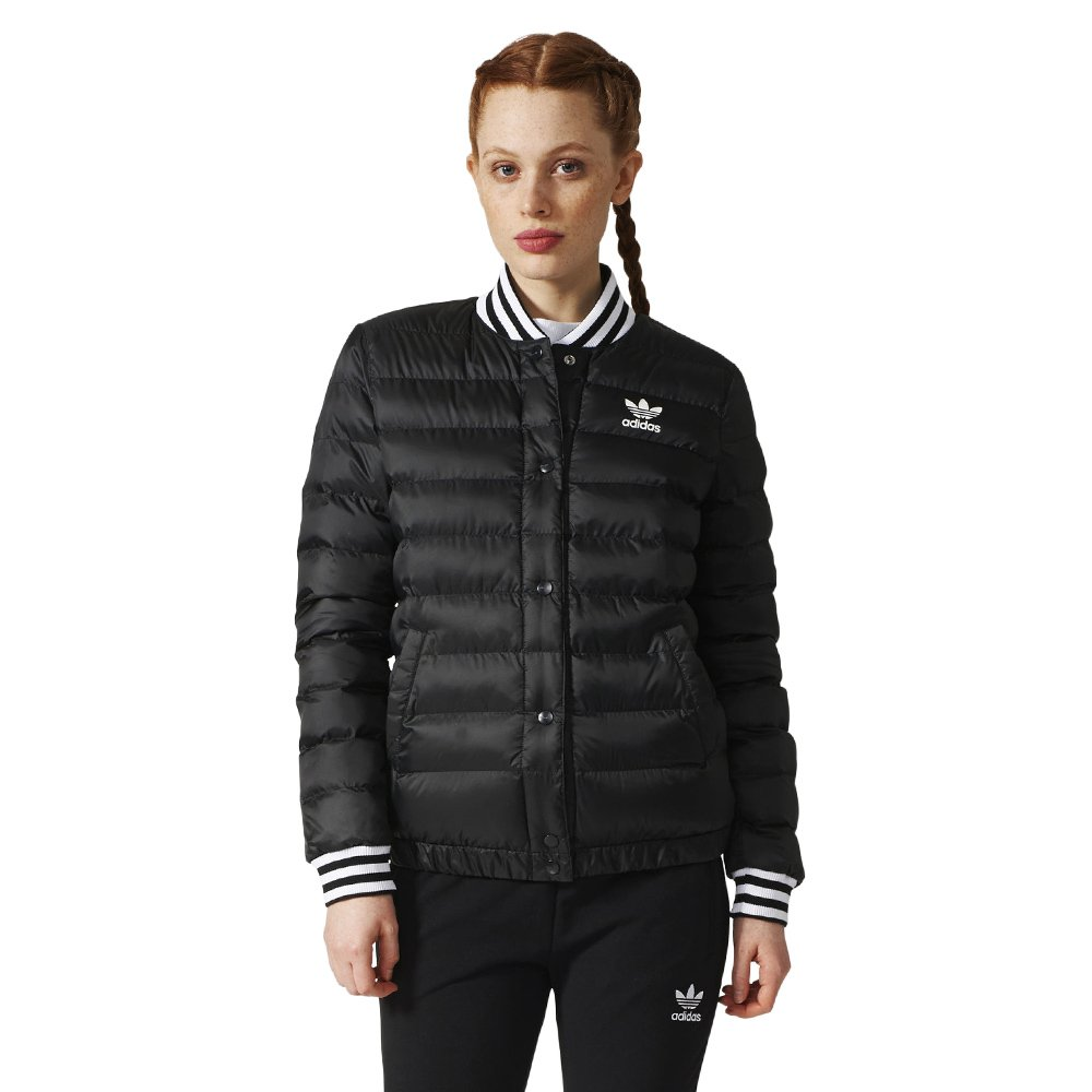 Details about Women's adidas Originals Blouson Jacket 100% Polyester Down Black