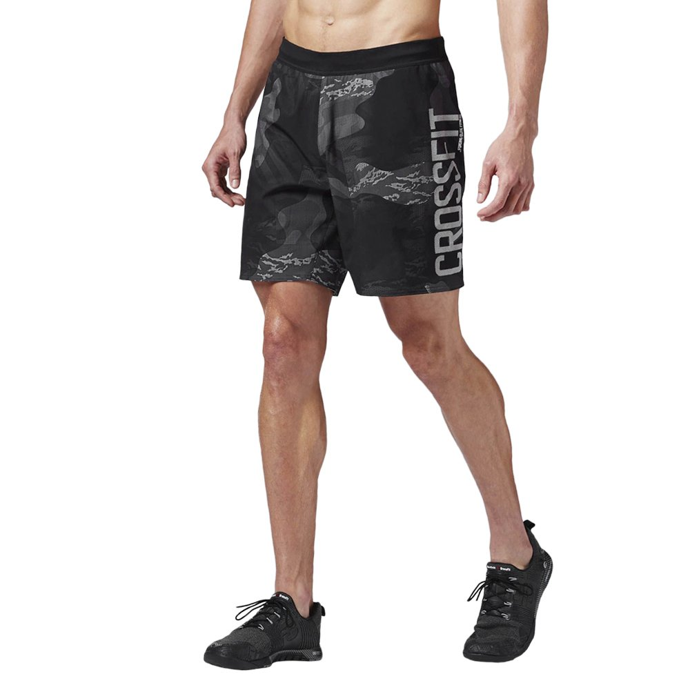 317e608f346f Details about Men s shorts Reebok CrossFit Super Nasty Speed Training Black  Gym Knickers