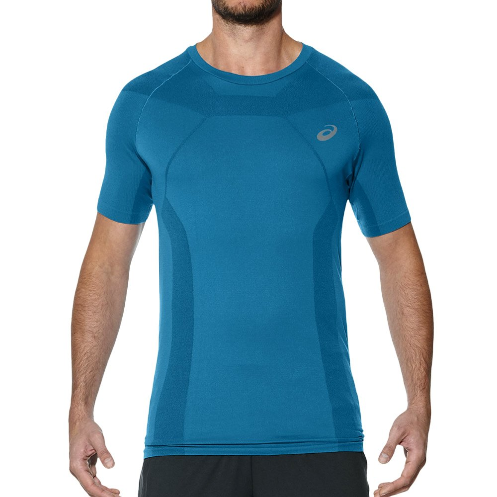 separation shoes e1da1 83cff Men s Asics Tech Tee Short Sleeve Seamless Top Training T-Shirt Running  141244 8154 ...