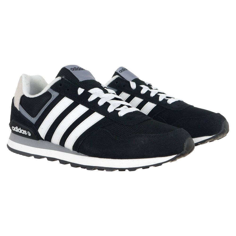 Adidas Neo 10K Black Mens Casual Shoes Sneakers Everyday