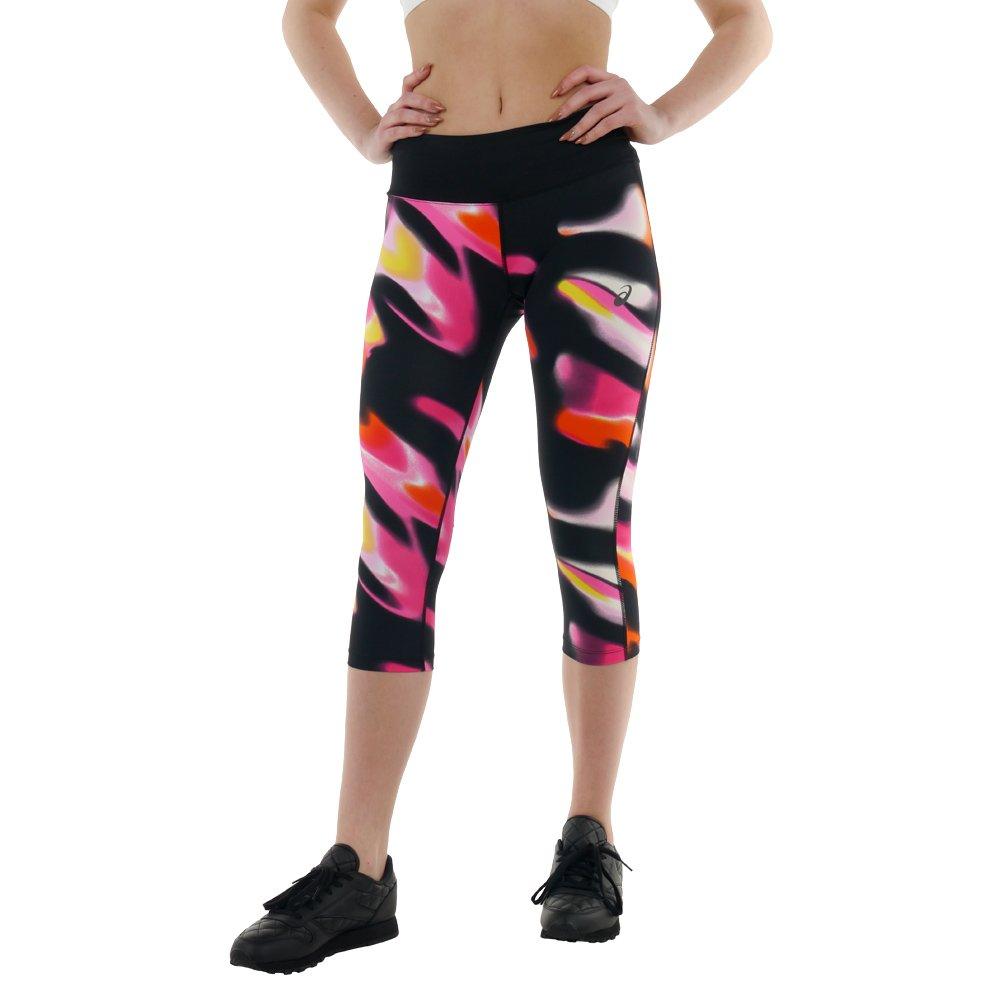Women's New ASICS Capri 3/4 Leggings Running Tight Fitness Gym ...