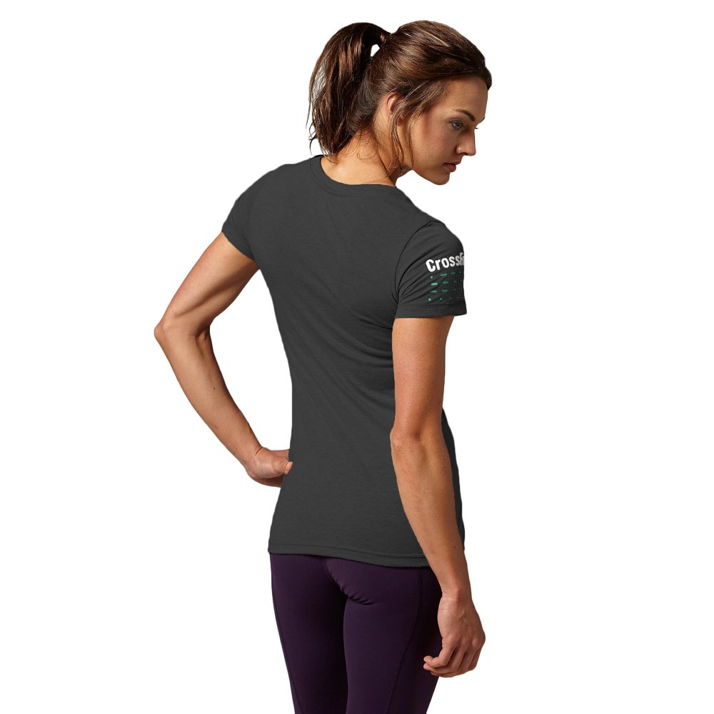 e146158bc93f49 Details about Women's Workout Top Reebok CrossFit Graphic Tee Wicking Gym  Fitness T-Shirt