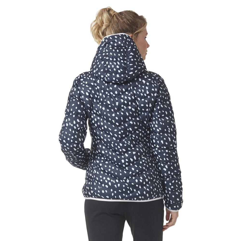 Women/'s winter adidas Slim Jacket All Over Print Hooded Warm Lightweight
