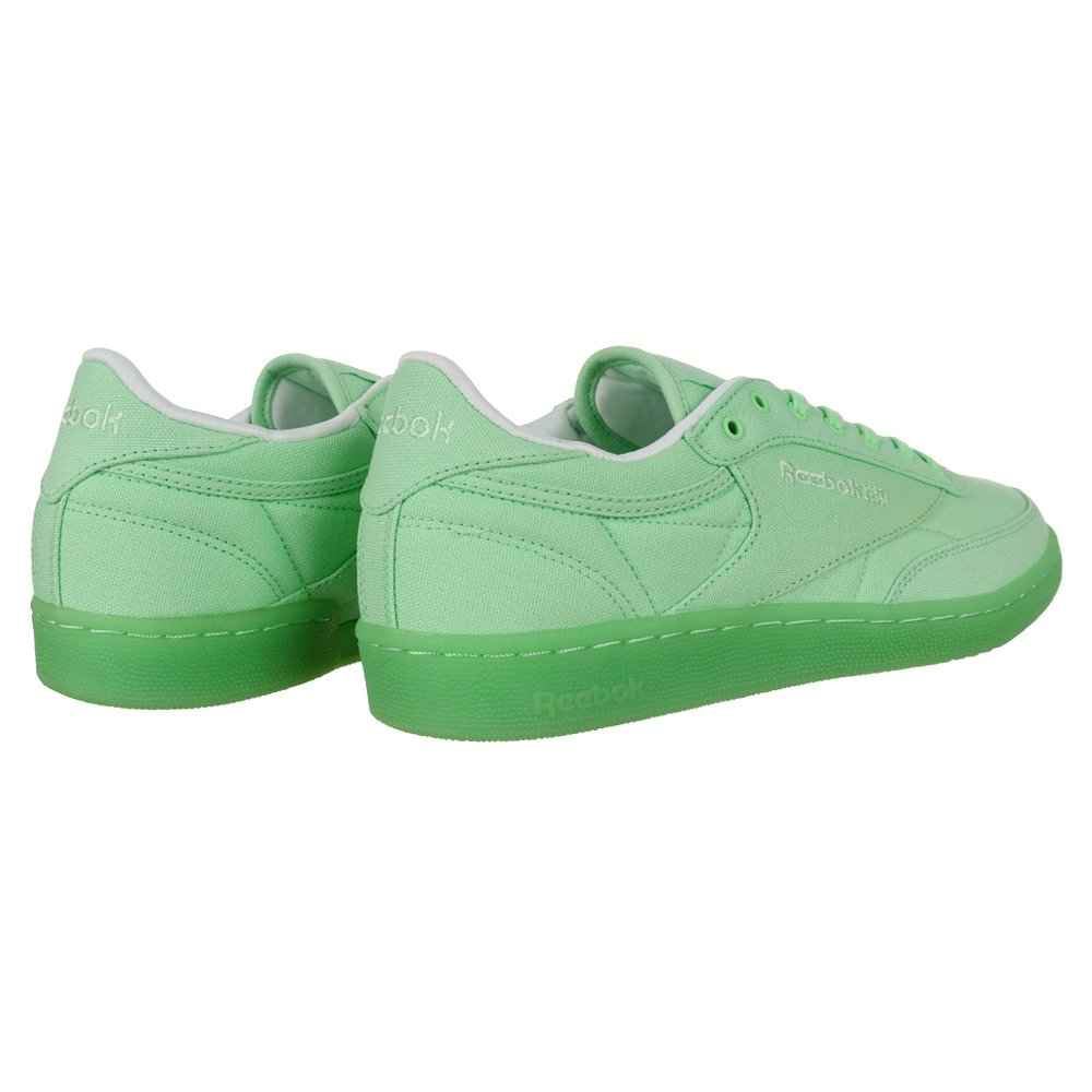 ffc9a6a9991b4 Women s Reebok Classic Club 85 Canvas Trainers Green Everyday Shoes ...