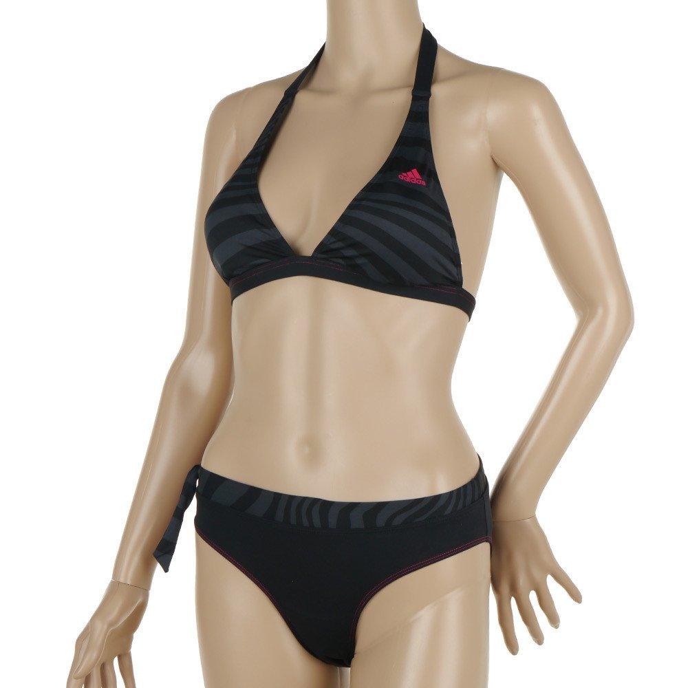 damen bikini set adidas womens hn bi schwarz halterneck infinitex badeanzug 32 ebay. Black Bedroom Furniture Sets. Home Design Ideas
