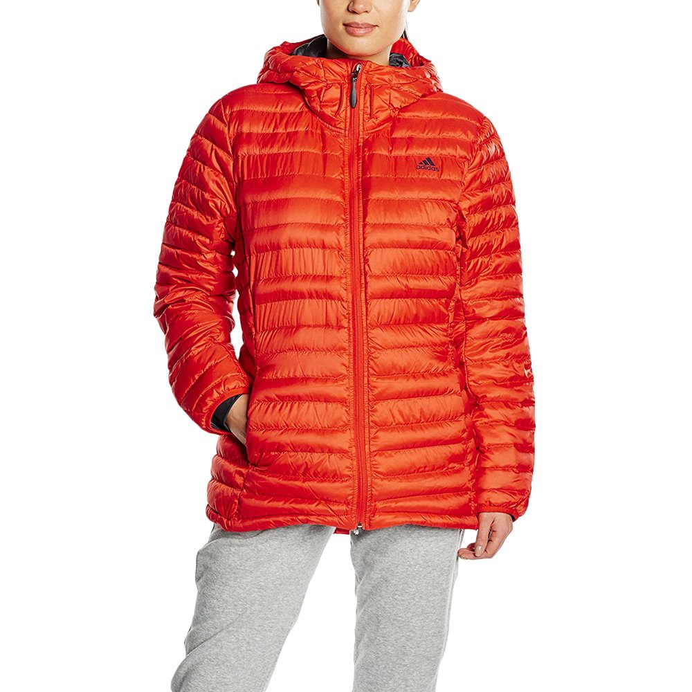 Details about Adidas ClimaHeat Frostlight Women's Winter Padded Hooded Jacket Goose Down