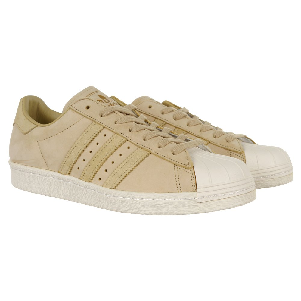 76f2980ed60ed5 adidas Originals Superstar 80s Schuhe Beige Leder Sneaker Herren Damen  BY2507 BY2507 1 ...
