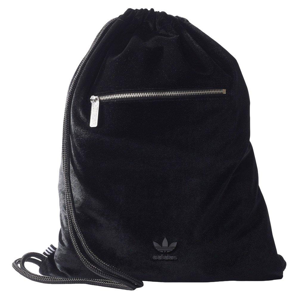 802ff4e59 adidas Originals Brooklyn Heights Velvet Gymsack XL Black Drawstring ...