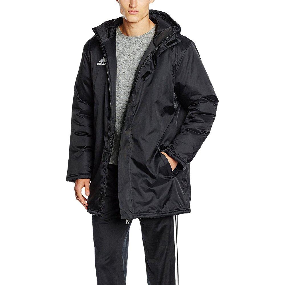 Details about Men's adidas Core Stadium Jacket Black Training Windbreaker Full Zip Hooded