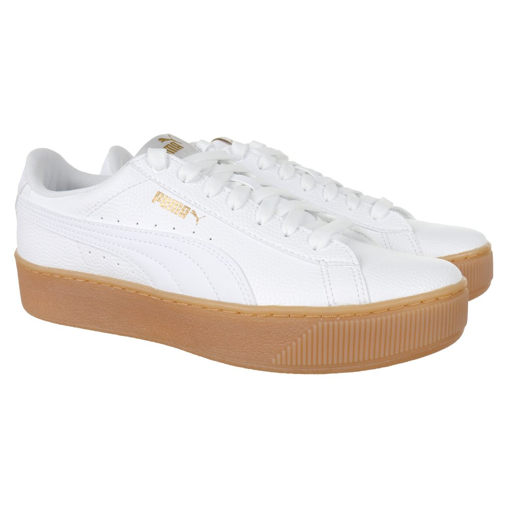 puma platform vikky white