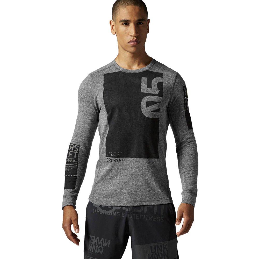 Reebok Herren Crossfit Triblend Long Sleeve Shirt langarm AB4922 1 ... 7893b6531