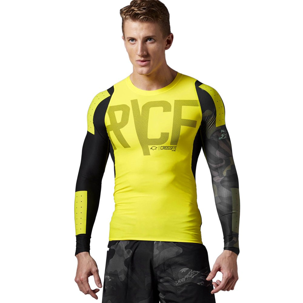 8a889b6520e9 Details about T-shirt Reebok CrossFit Compression Mens Long Sleeve Training  Top SpeedWick