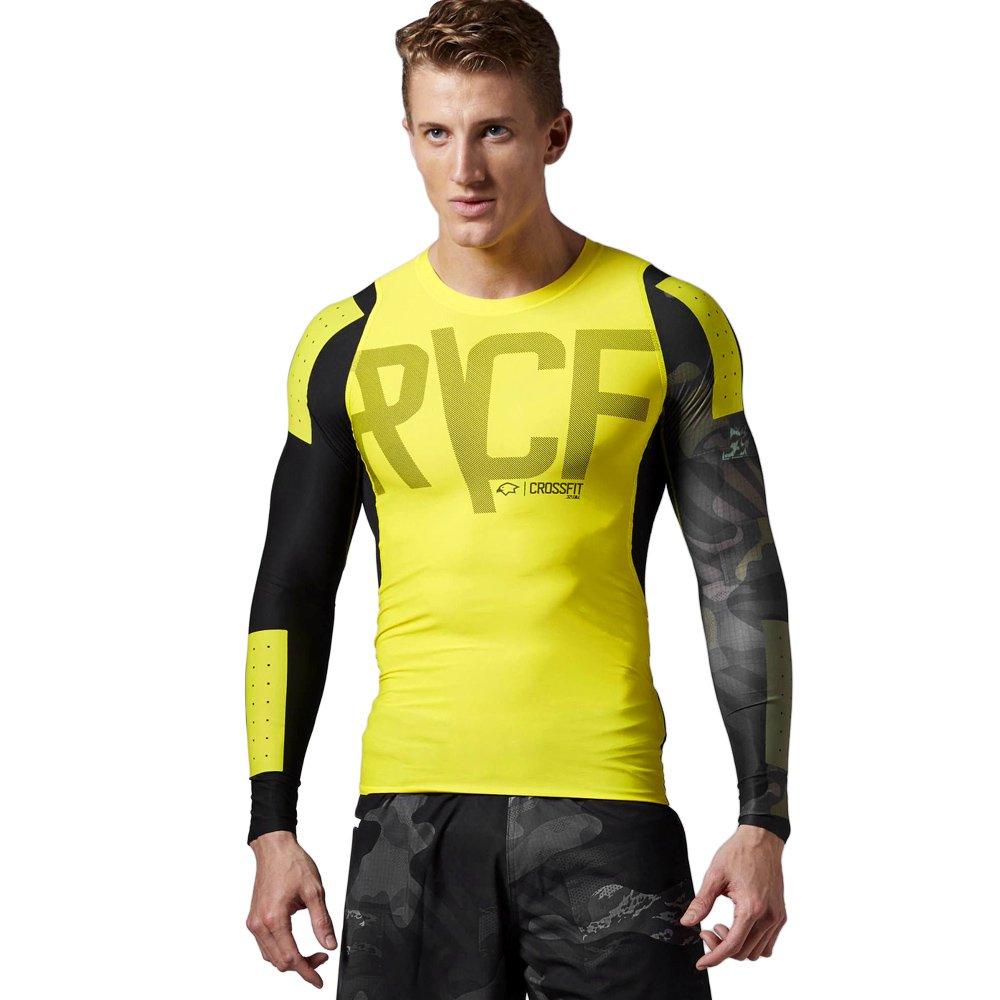 riesige Auswahl an Fabrik Bestbewerteter Rabatt Details about T-shirt Reebok CrossFit mens long sleeve sport Compression  Gym Workout Top
