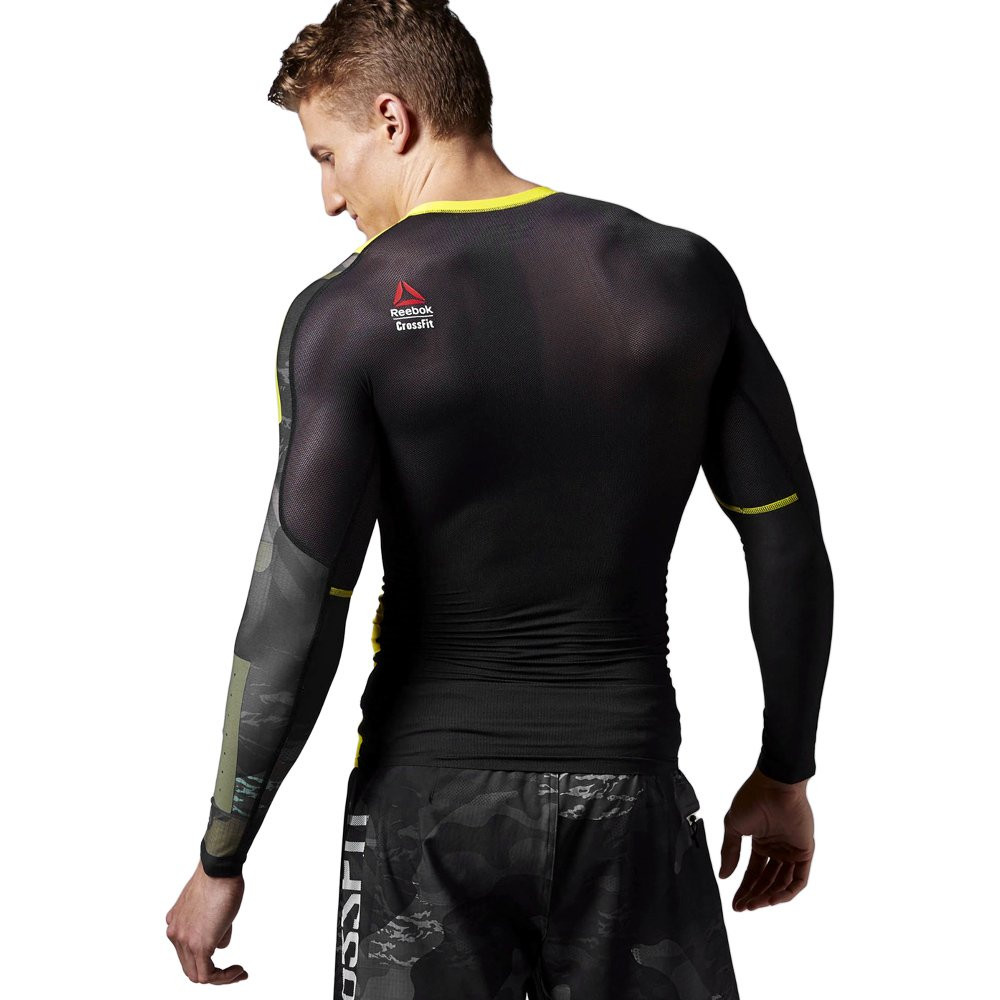 5bf8d7e3a092 ... T-shirt Reebok CrossFit Compression Mens Long Sleeve Training Top  SpeedWick AI1367 2