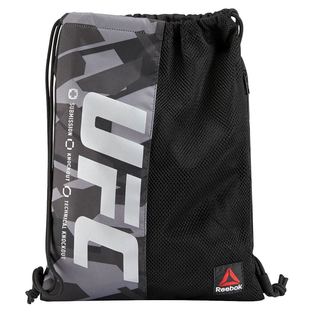 beeead86bcfb Details about Reebok UFC Gymsack Gym Bag Drawstring Black Shoe Bag Training  Backpack