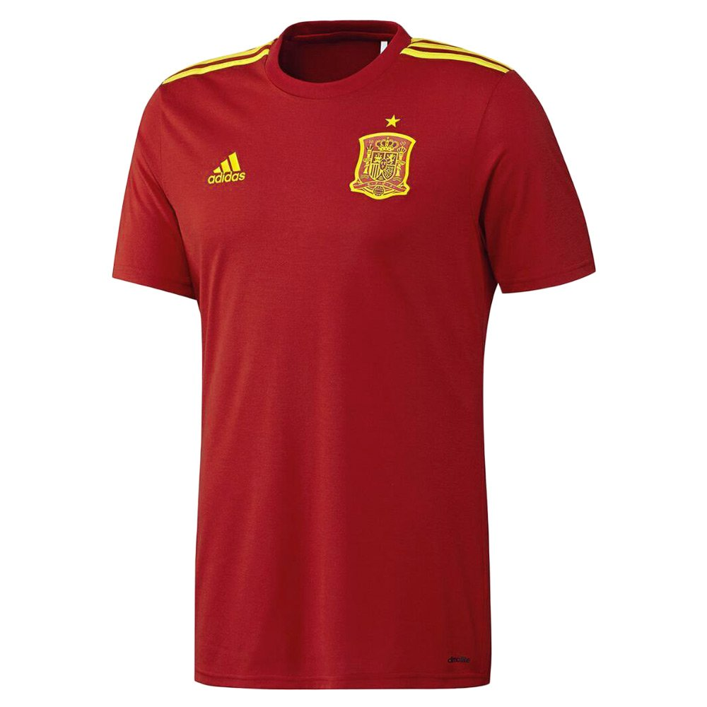 3fc361b81 Koszulka piłkarska Adidas Hiszpania Fan Home męska t-shirt meczowy  termoaktywny ...