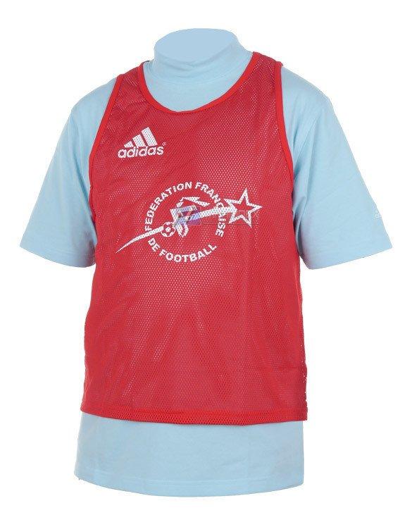 7594a4980 Koszulka treningowa Adidas Chasuble FFF sportowa 192028 czerwony ...