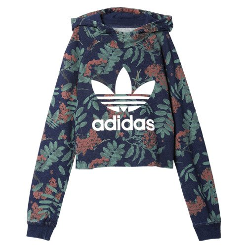 Bluza Adidas Originals Youth Denim Short Hoodie dziecięca dresowa z kapturem