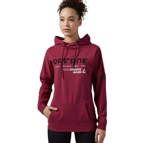 Bluza Reebok Workout Cotton Series OTH damska dresowa sportowa z kapturem